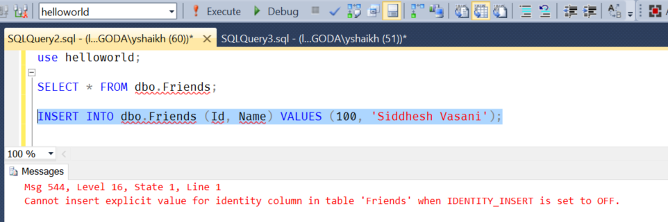 Is Ms Sql S Identity Insert Session Specific Yasser