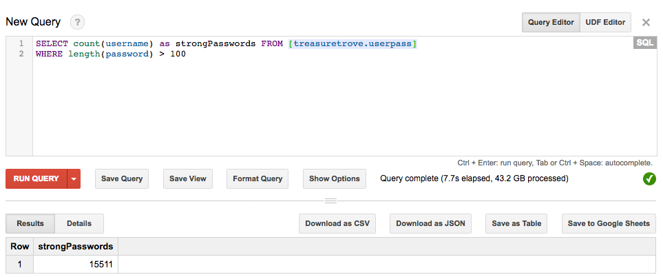 Using Google Cloud Platform to store and query 1 4 billion