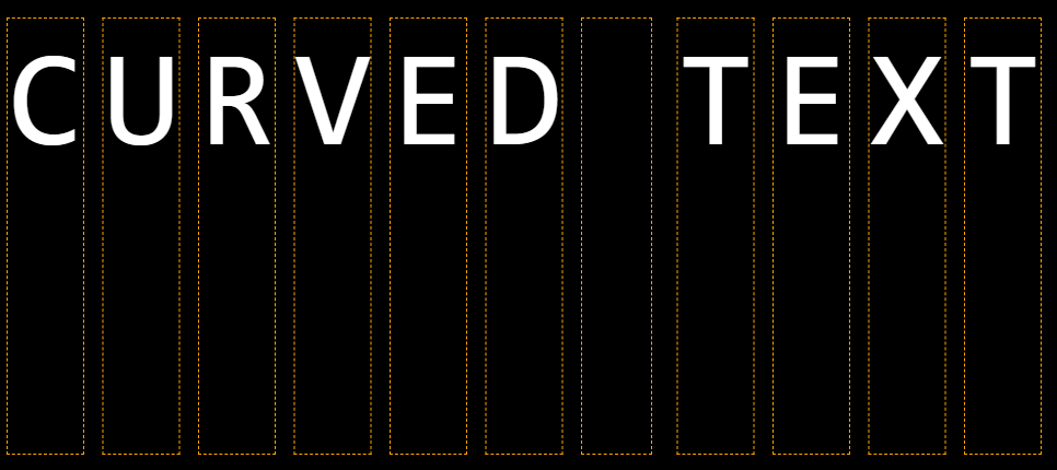 Curved Text Elements
