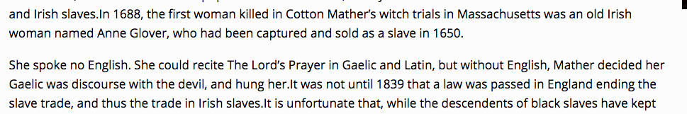 The myth that Goodwife Glover, the Irish woman executed for