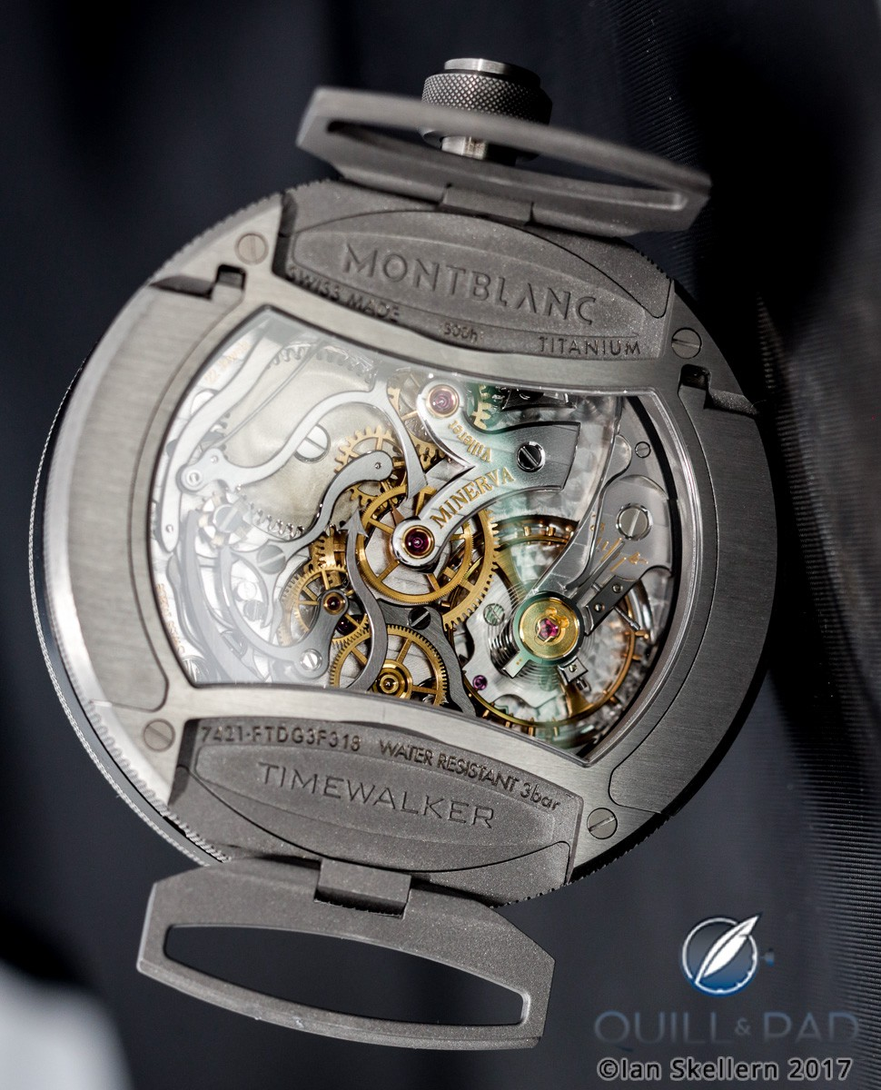 Back view of the Montblanc Timewalker Chronograph Rally Timer Counter Limited Edition 100