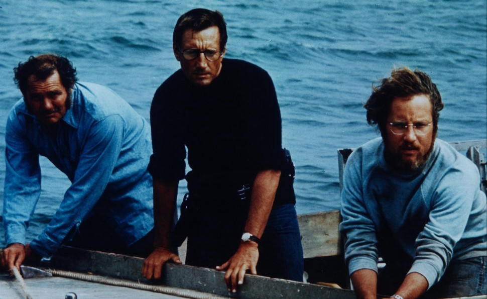 The three person team who hunt the shark in Jaws.