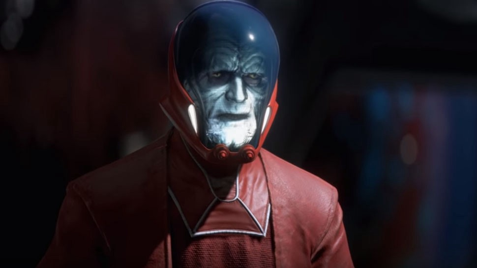 A red cloaked Contingency Droid built by Palpatine.
