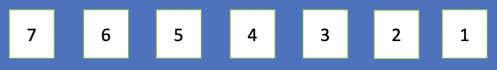 number array from 7 to 1
