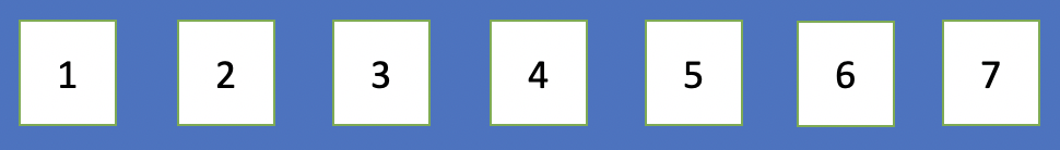 number array from 1 to 7