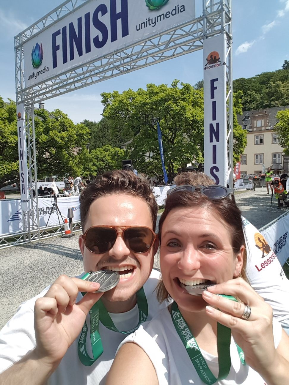 ShortsTV's Max and Stephanie with their medals