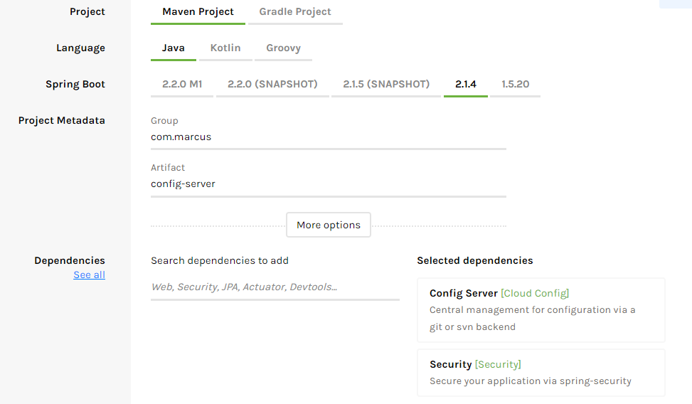 Microservices with Spring Boot and Spring Cloud  From config