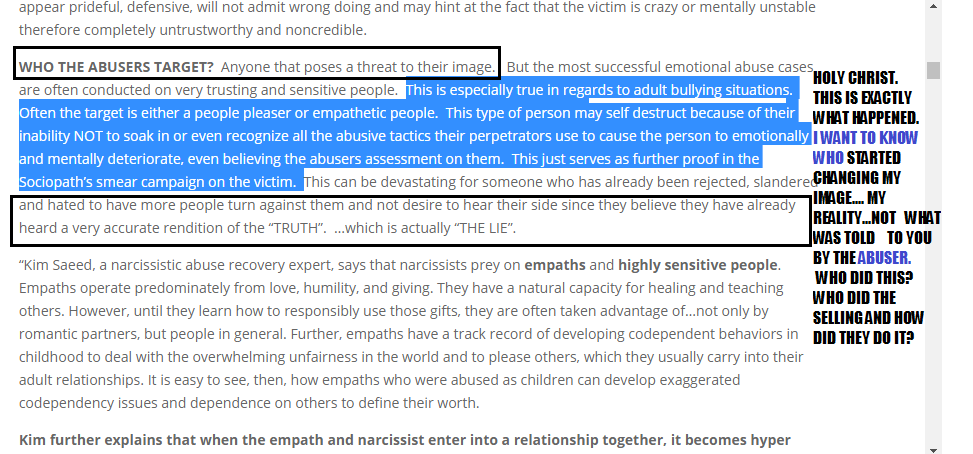 Narcissistic abuser: vicious bully Sue Kelson & enabler