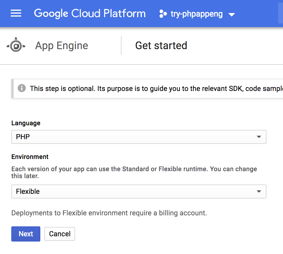 Creating a simple PHP application on Google App Engine!