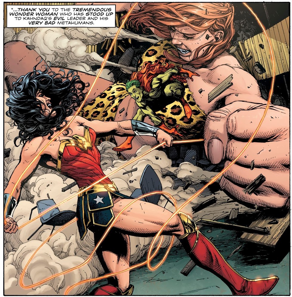 Wonder Woman does something. For the first time.