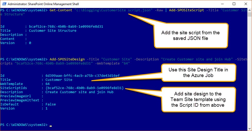 Provision a Hub of sites in Modern SharePoint  The Build