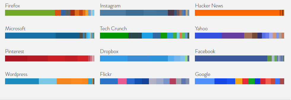 4 Web Colour Data color palette selector