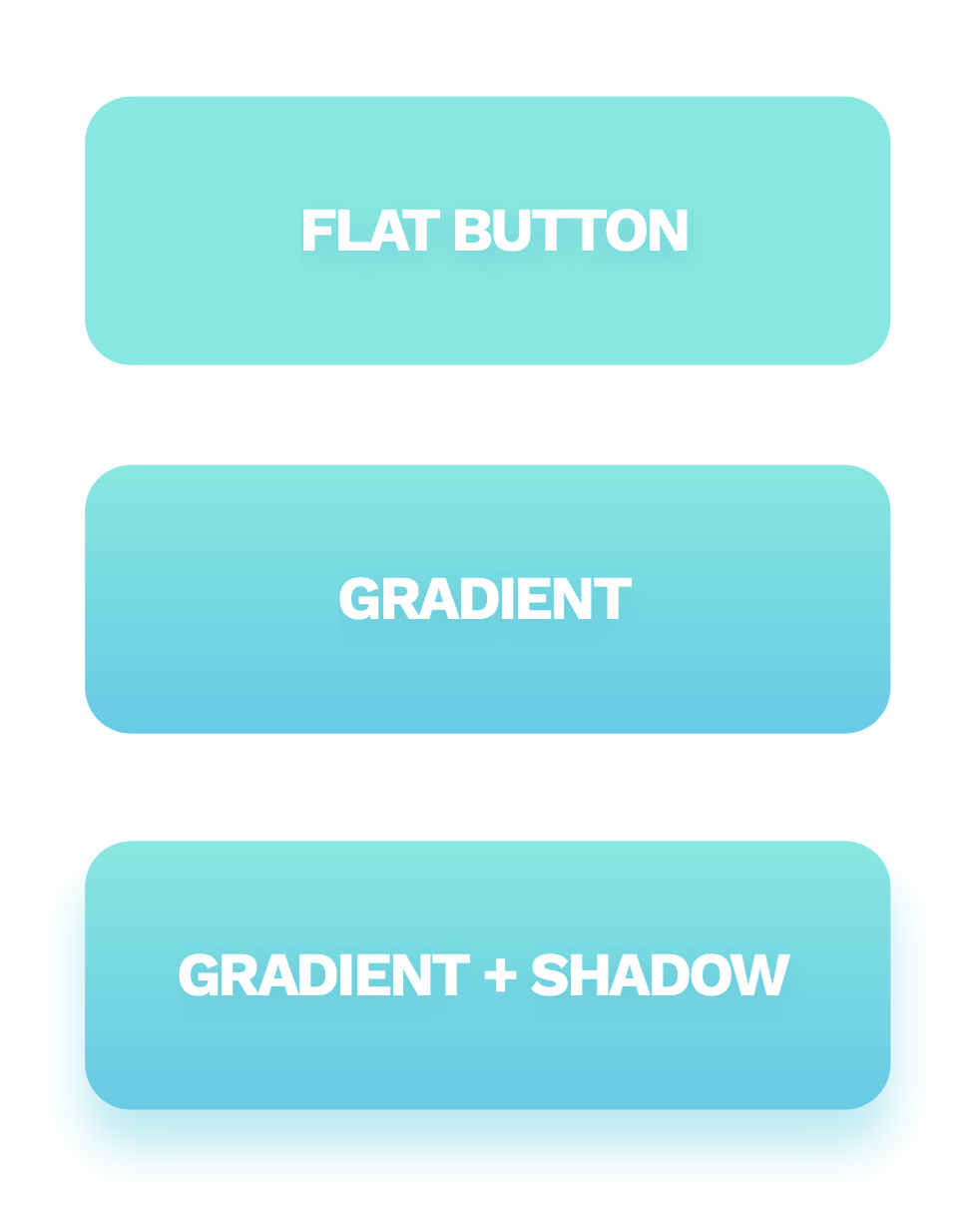 Three types of buttons