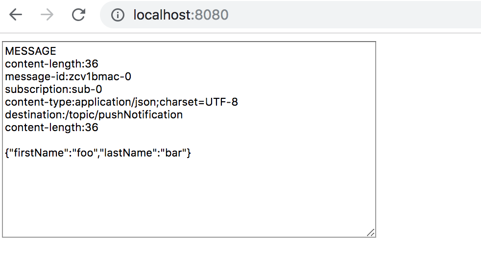 Routing Kafka messages to browser over web socket - Amit