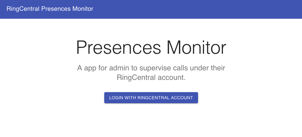 Building a Presence and Call Monitor App with RingCentral APIs