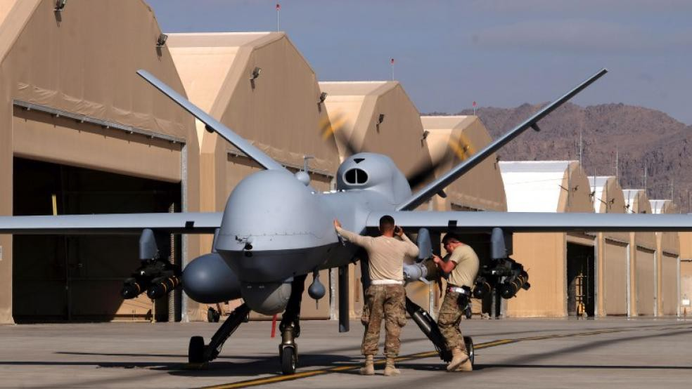 Drone warfare poses an ethical dilemma. Should AI in a drone be able to pick its own target?