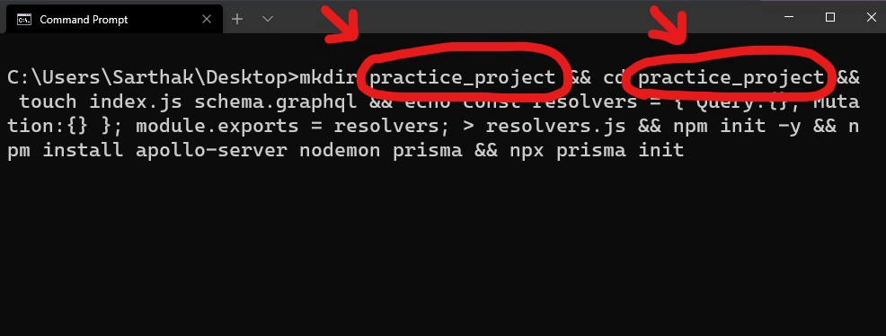 Edited/Changed project name or folder name.