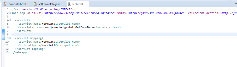 How to get data from HTML Form in Servlet  - Prashant
