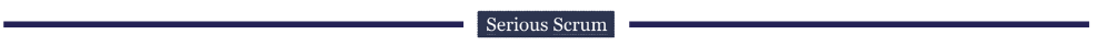 All articles are separated by Serious Scrum logo separator.