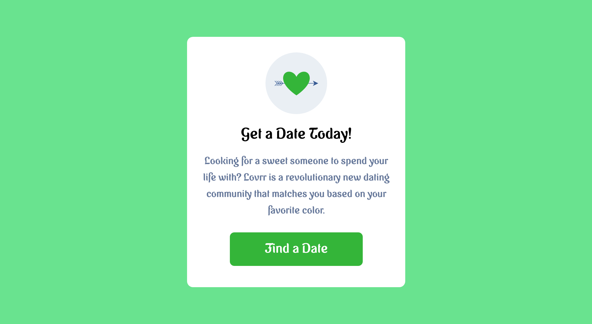 Get a date today—Find a date!