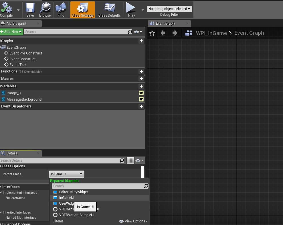 Creating an InGame User interface in Unreal 4 and C++