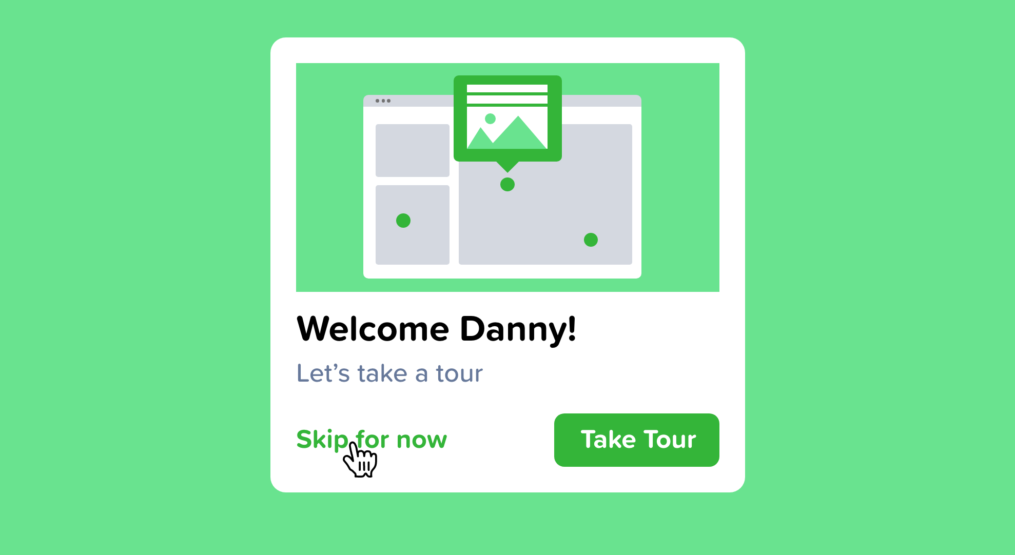 Displaying the ability to skip onboarding