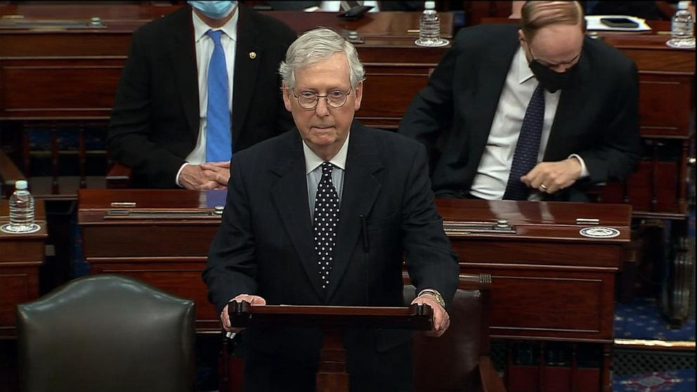 Source: https://abcnews.go.com/Politics/mcconnell-trump-provoked-capitol-assault-fed-lies-mob/story?id=75349374