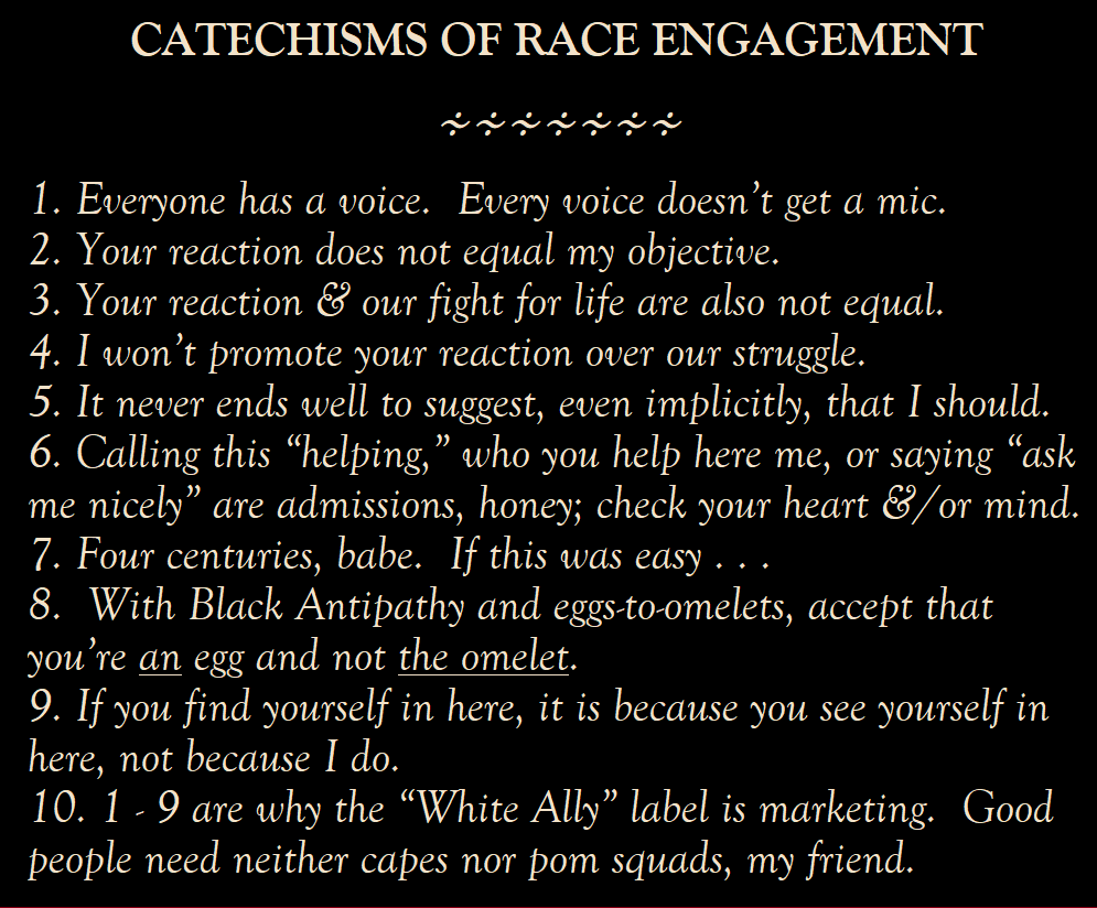 Ten things to watch out for during racism discussions.
