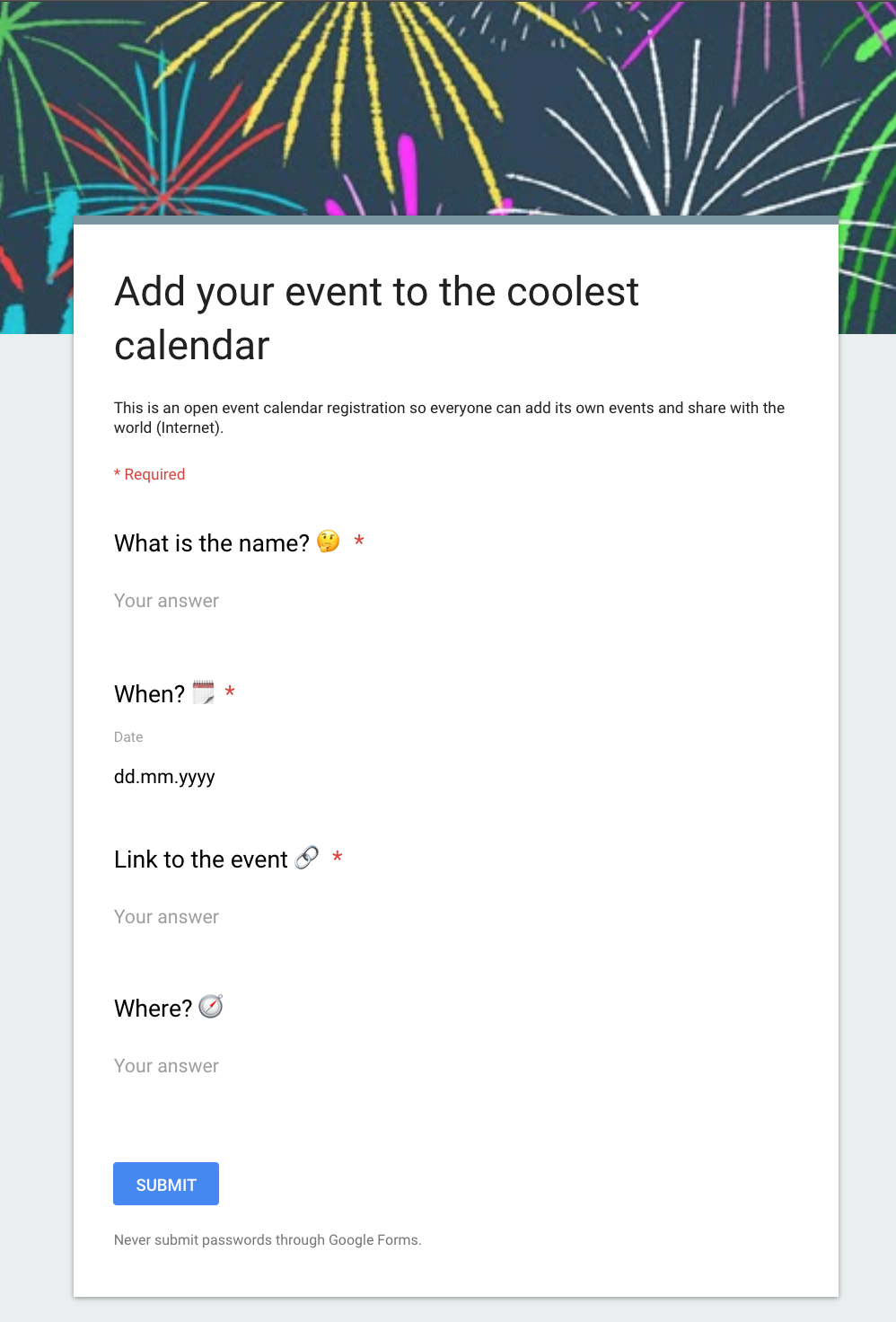 Building a collaborative Calendar with Google and Gatsby