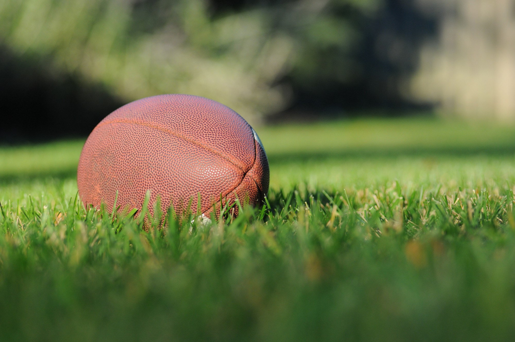Photo of a football in the grass by Ben Hershey on Unsplash
