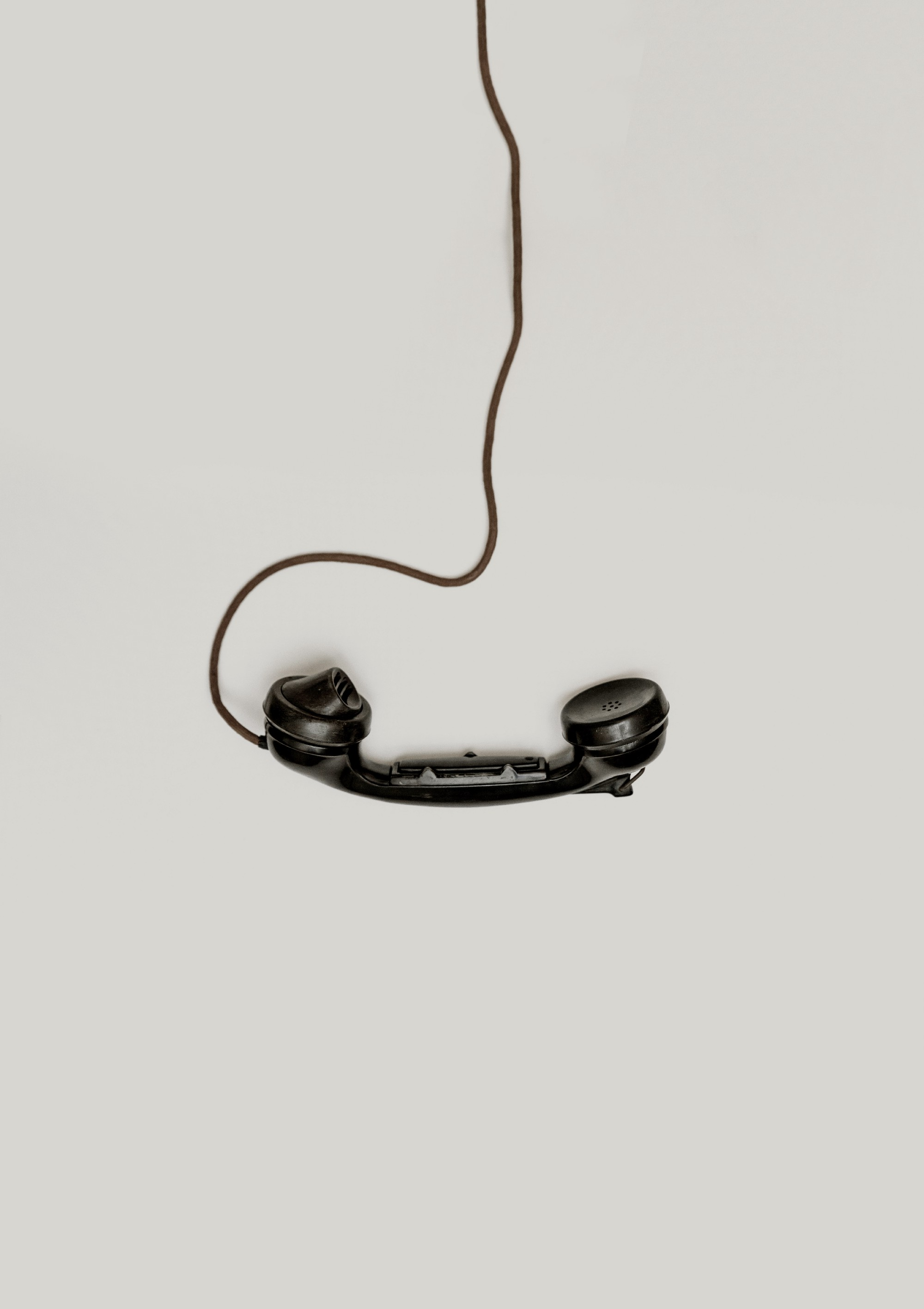 An image of a corded phone
