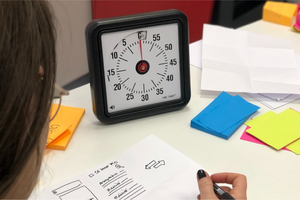 Timer for design sprint activities
