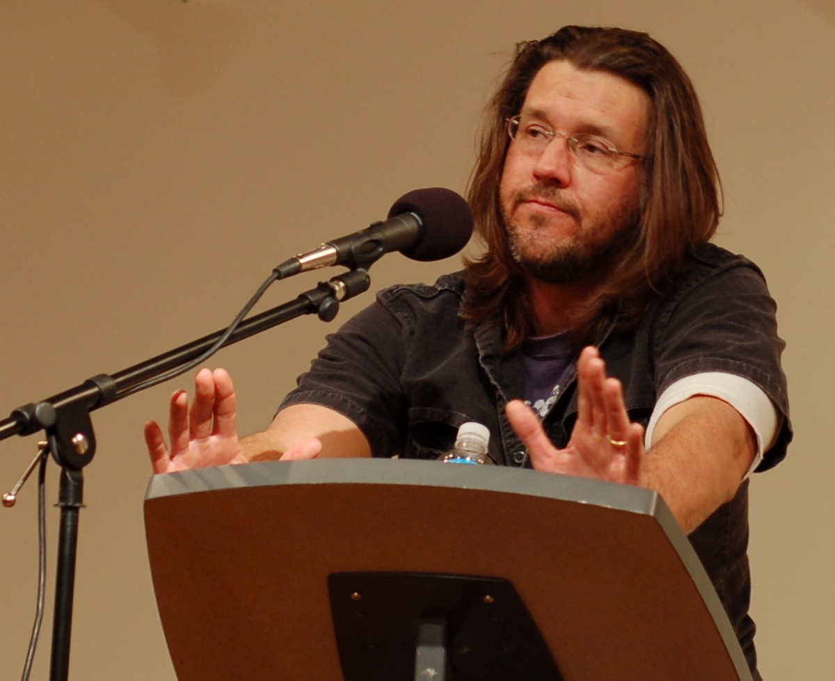 david foster wallace standing at a lectern