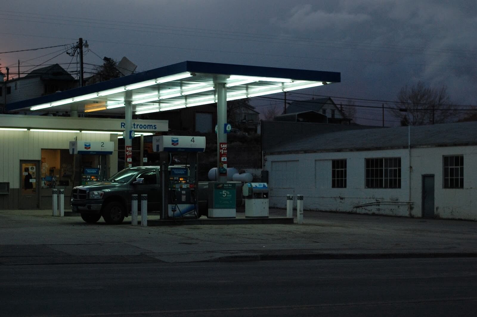 Photo of a gas station in Eureka, Nevada