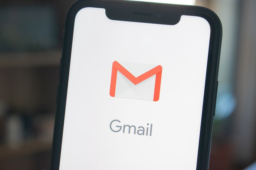 Phone with the GMail app loaded