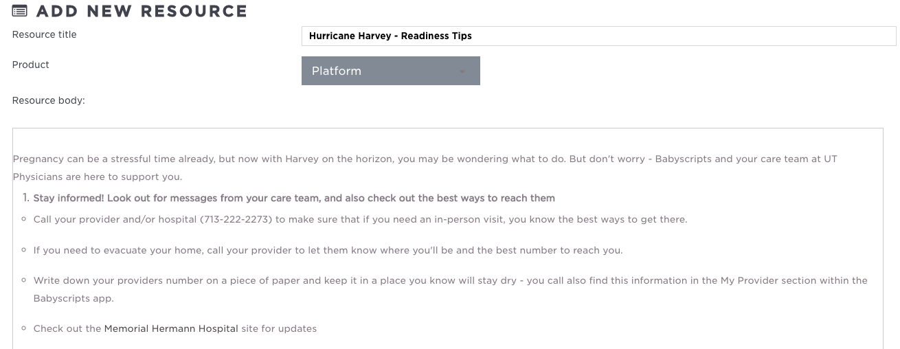 Making Virtual Care Count: Hurricane Harvey & Babyscripts!