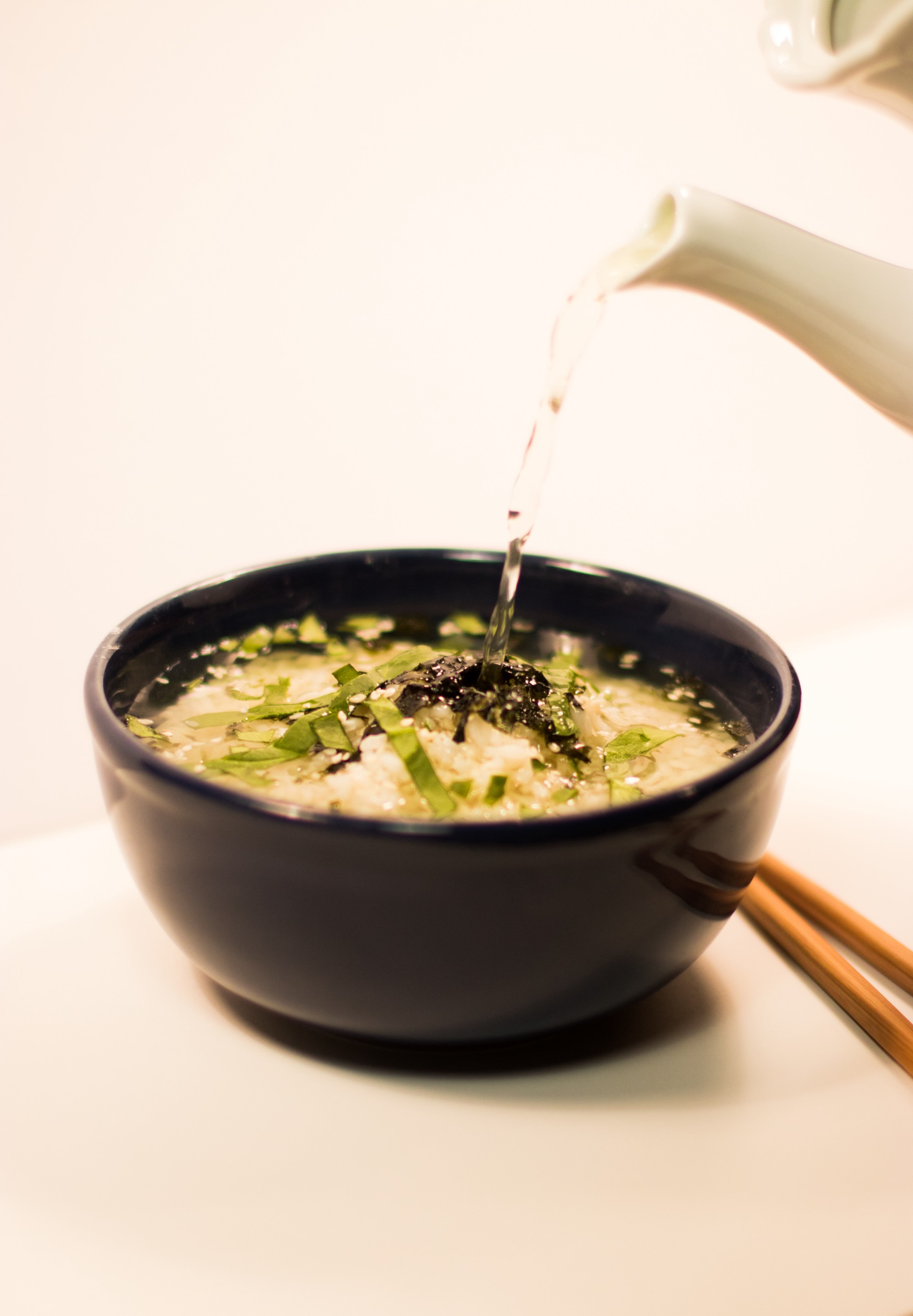 Asian rice soup
