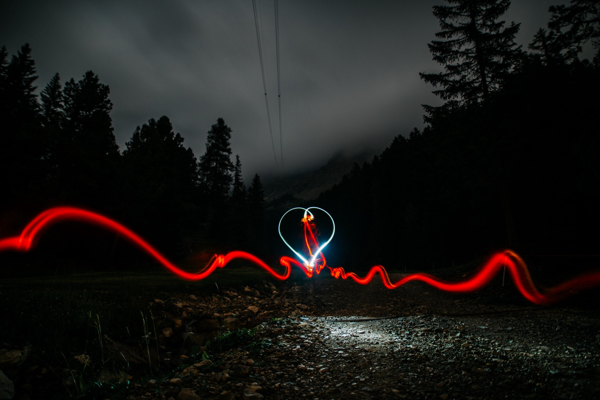 Heartbeat made with lights.