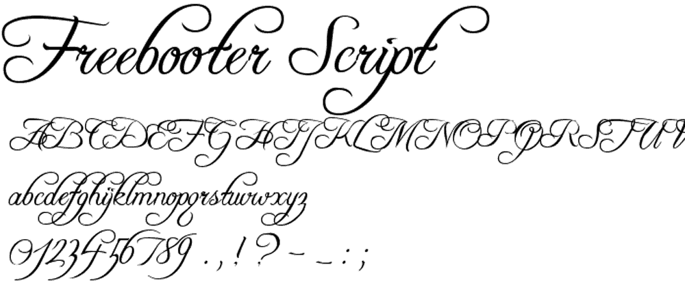 free-booter-script-font