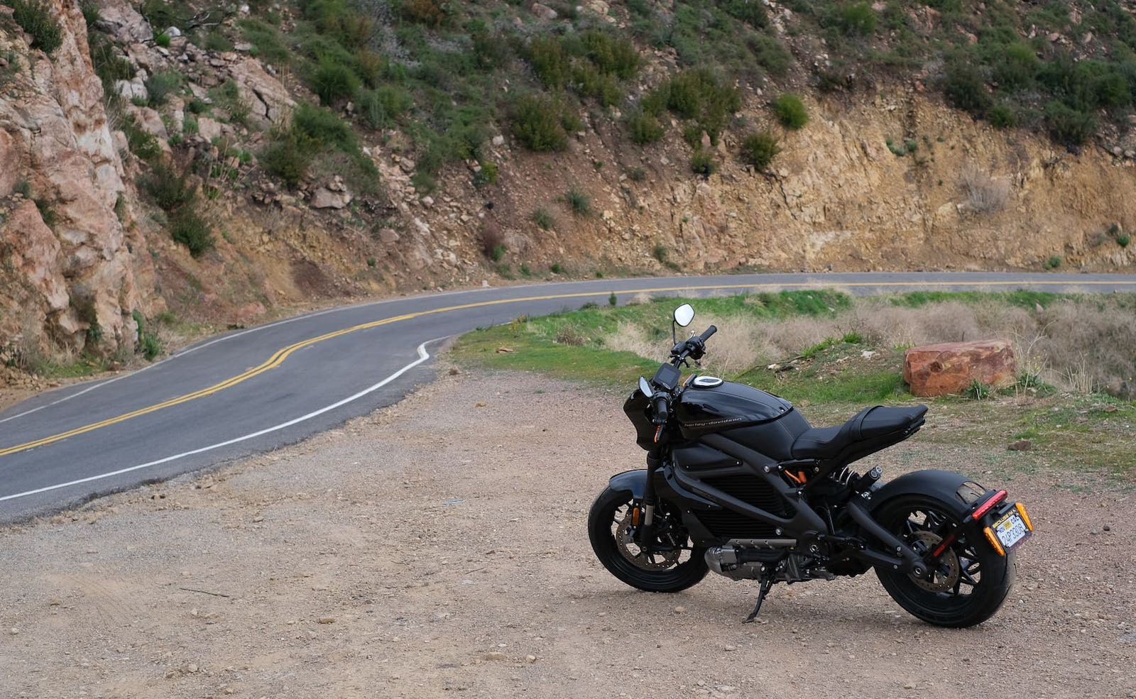 The Harley Davidson LiveWire I rented on Twisted Road