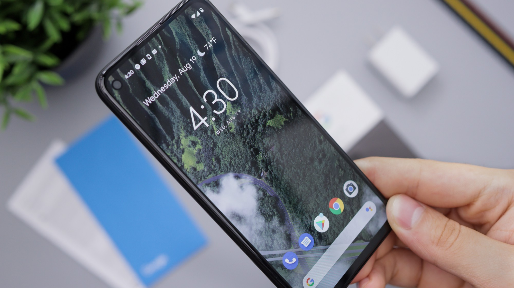 Android 10 running on Google's Pixel 4a