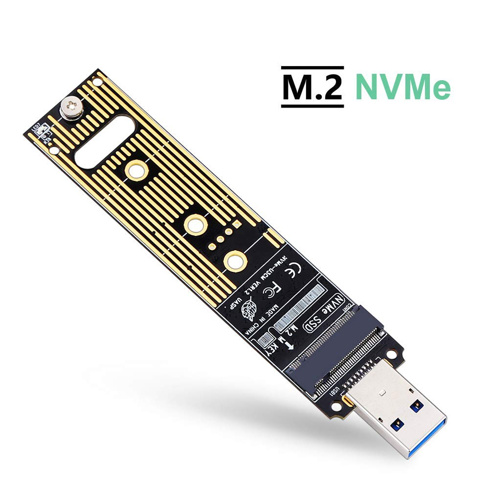 PCI-E M.2 NVME SSD TO USB 3.1 GEN2 10Gbps TYPE-C JMS583 Adapter Enclosure Case