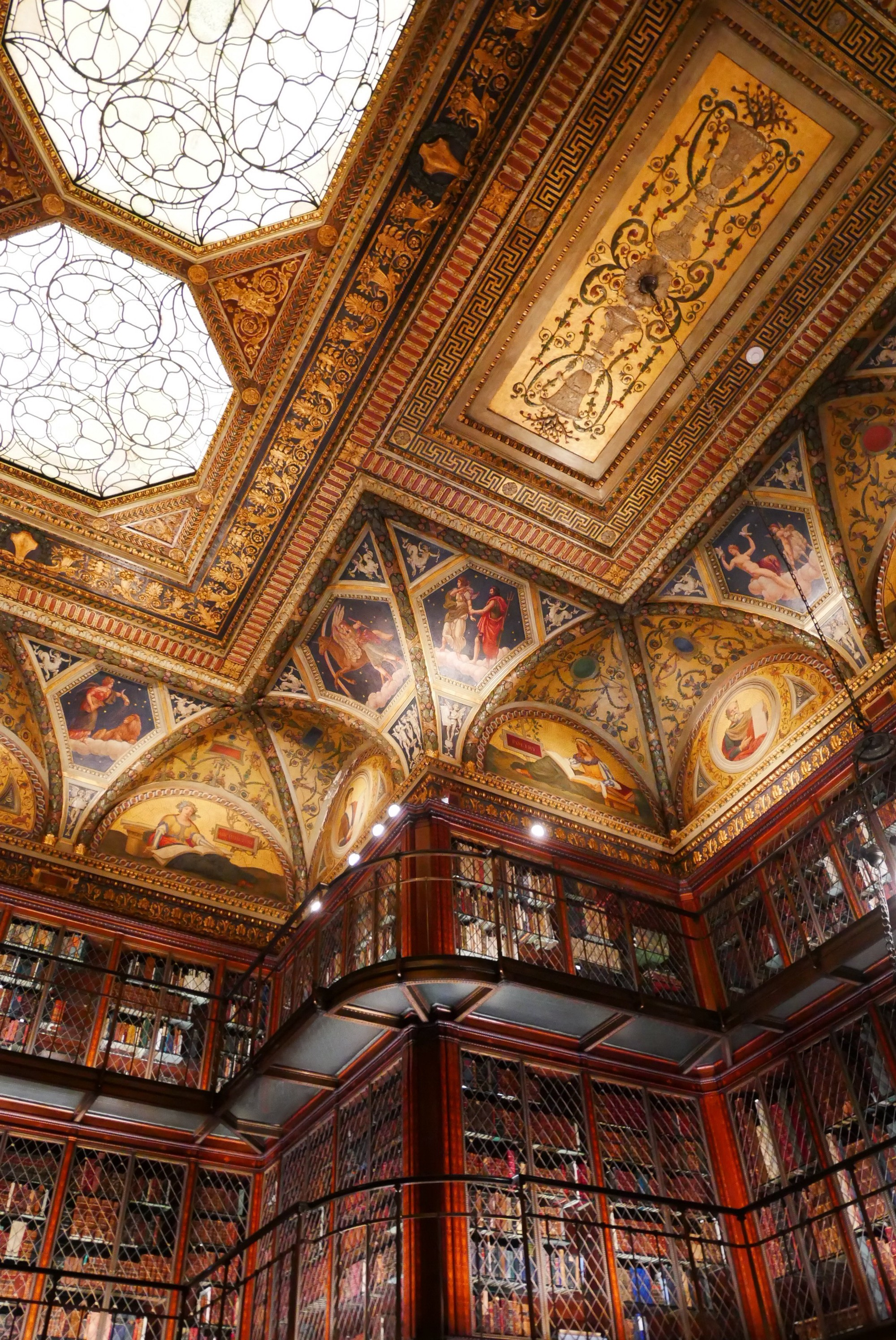 beautiful ceiling in a library
