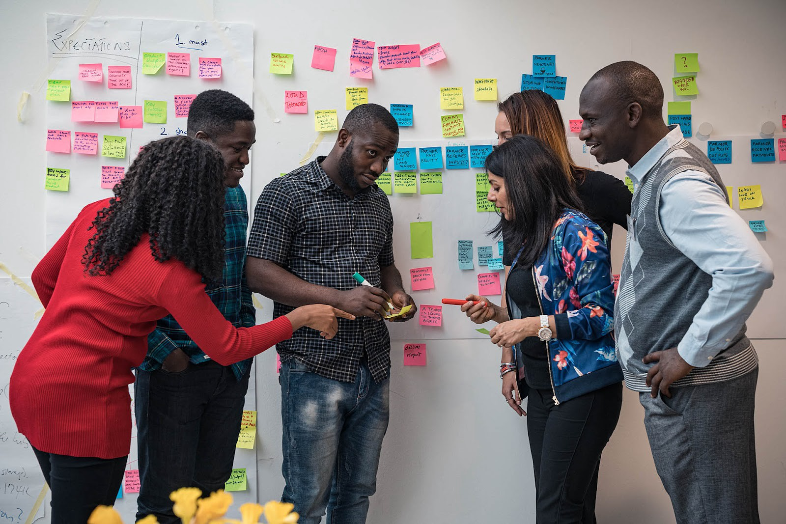 Photo: Innovators ideate at a recent WFP Innovation Bootcamp, in Munich, Germany. February 2020.