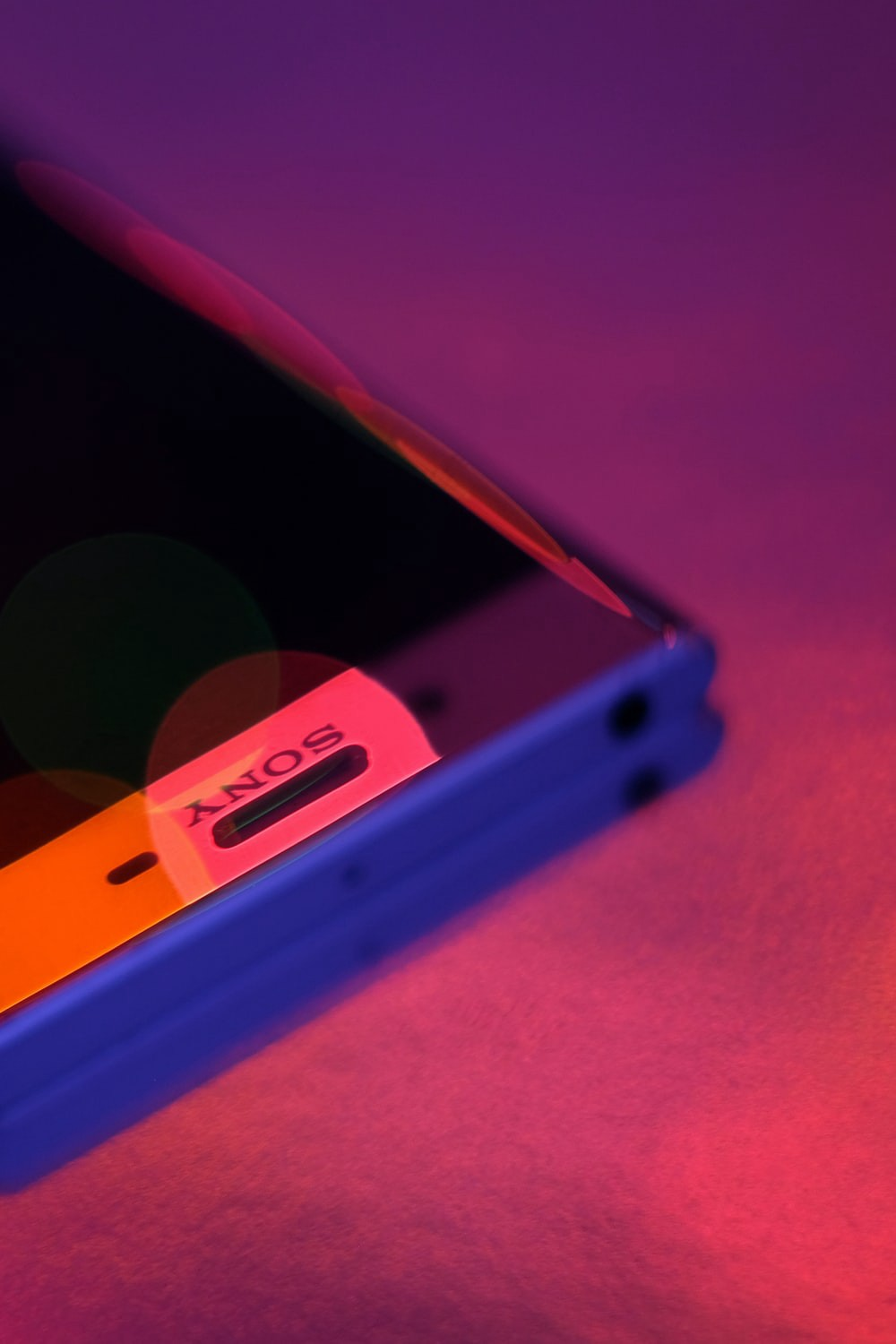 Blue Sony smartphone