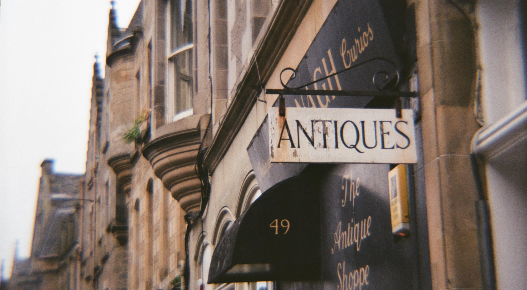 An antique store touching the grounds of the old building