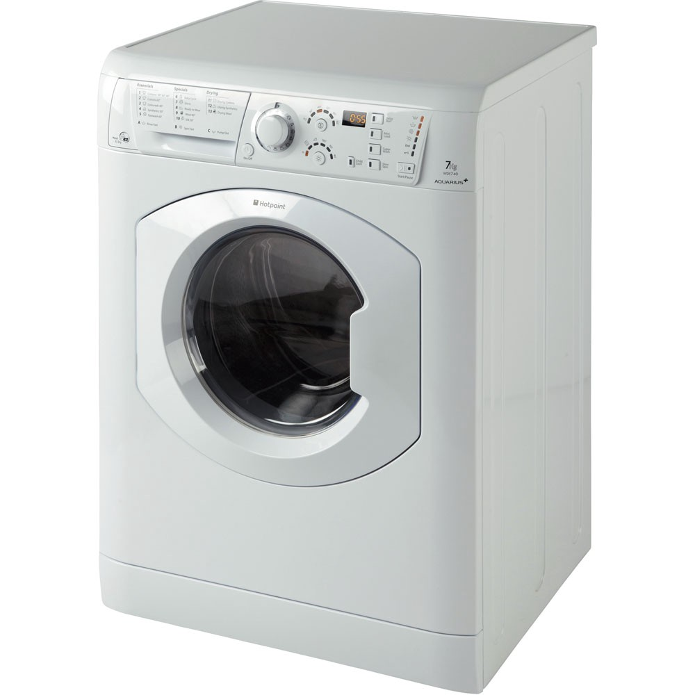 A picture of a Hotpoint 5+5 Washer Dryer seemingly floating in nothingness