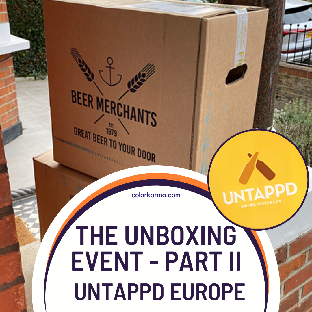 Packahes of beer delivered on someones doorstep — from Beer Merchants Branded Corrogated Boxes and Untappd