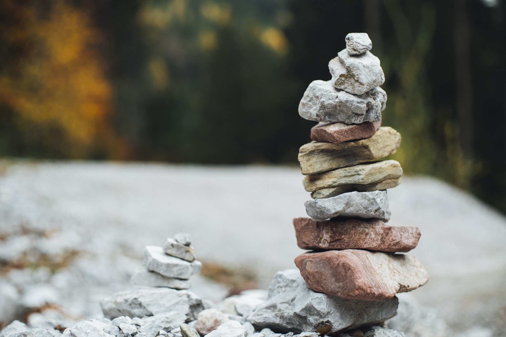 A set of rocks, piled on top of each other.