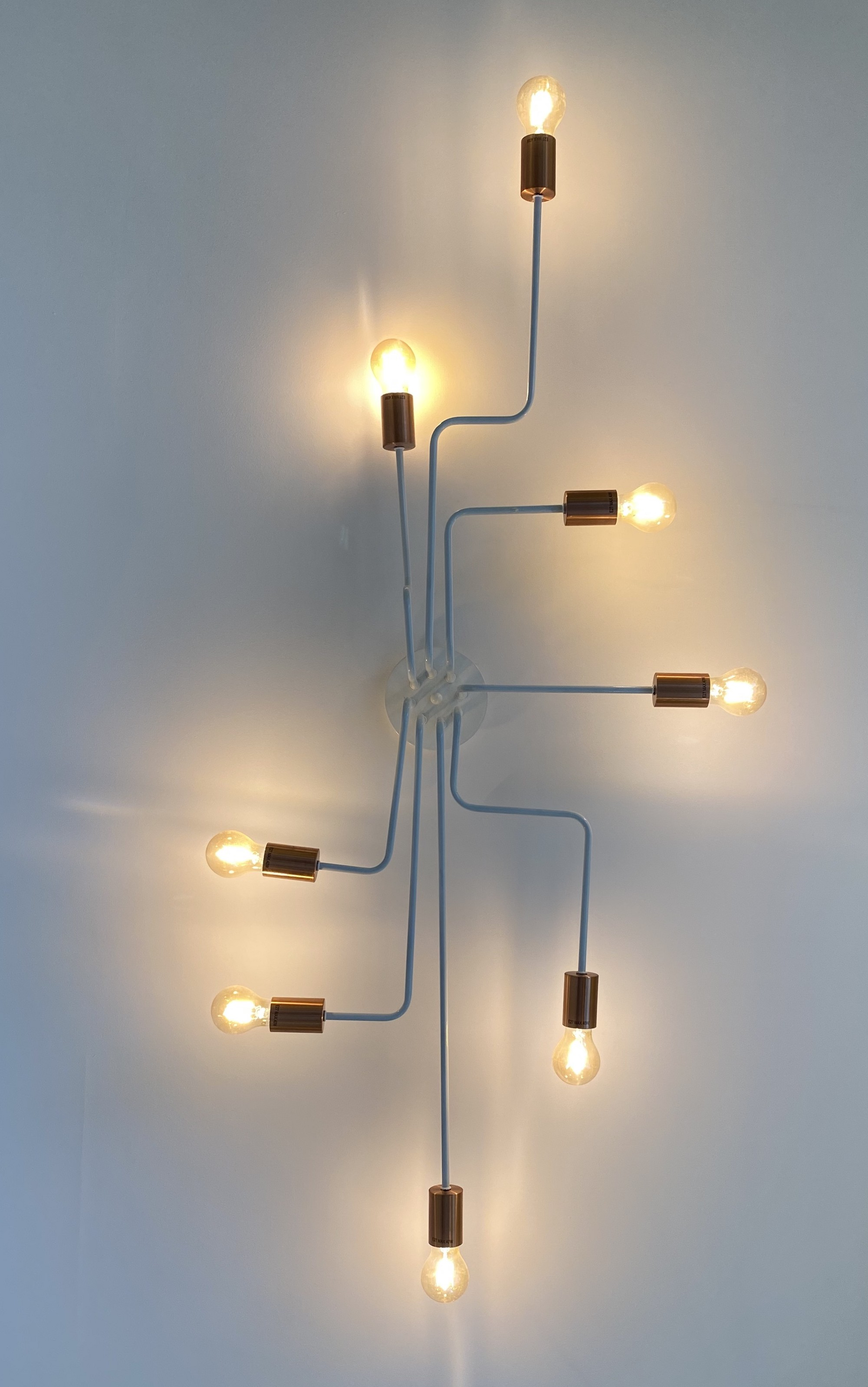 A number of light bulbs connected together